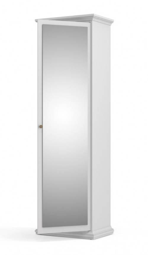 Bílá skříň se zrcadlem Provence