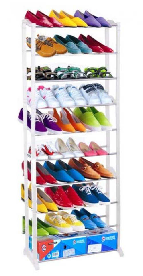 Levný otevřený botník pro 30 párů bot