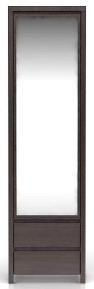 Úzká šatní skřín s velkým zrcadlem