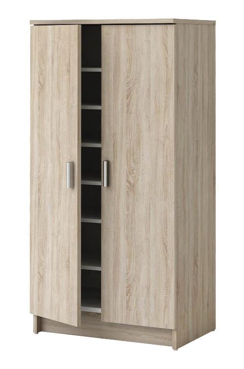 Velký skříňový botník s šesti variabilními policemi