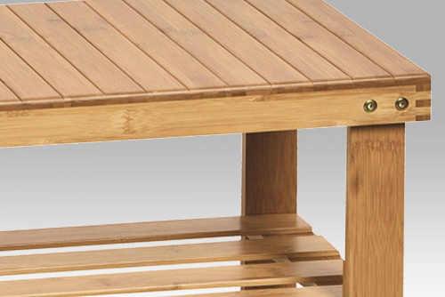 Bambusový botník s lavicí pro sednutí