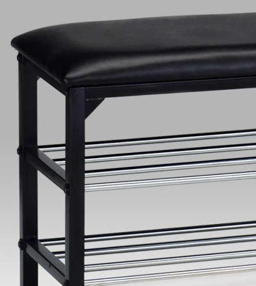 Botníková lavice s koženkovým polstrováním