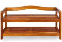 Malý předsíňový botník z akátového dřeva