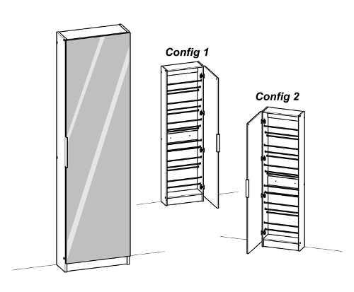 Možnost instalace otevírání dveří na levou i pravou stranu