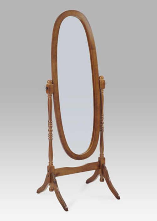 Stojící výklopné zrcadlo v dřevěném rámu