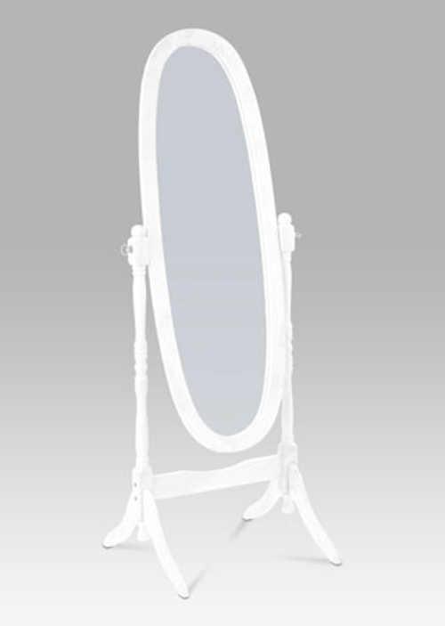Bílé stojící výklopné zrcadlo provence styl