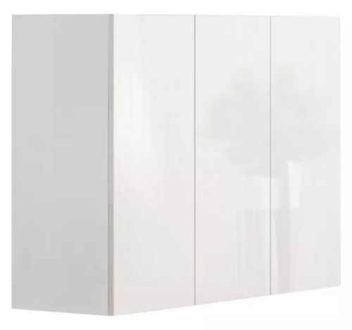 Trojdvéřová komoda bílý mat/bílý lesk