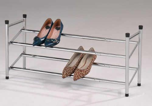 Nastavitelný rozšiřitelný kovový botník se dvěma řadami