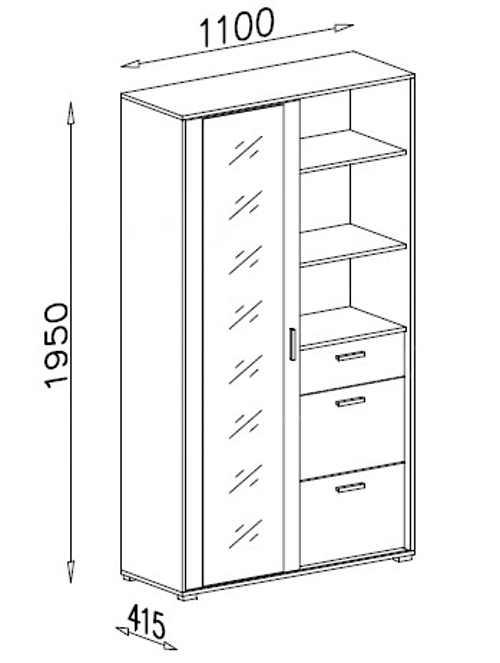Vysoká skříň do šatny