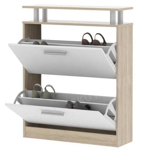 Botník dub sonoma s dvěmi výklopnými skříňkami