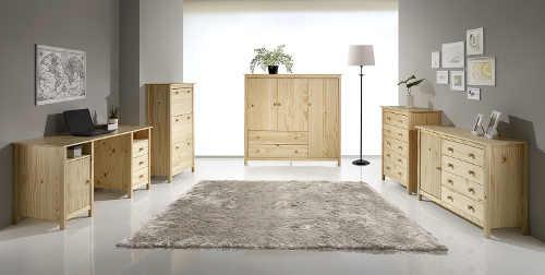 I nábytek z masivu borovice může vypadat moderně
