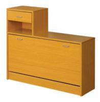 Klasický výklopný dřevěný botník
