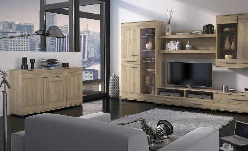 Nadčasový obývací pokoj dub sonoma