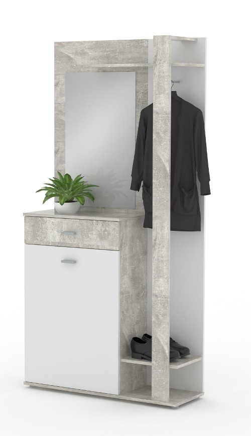 Předsíňová stěna vzhled šedý mramor