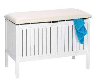 Bílá úložná lavice provence styl