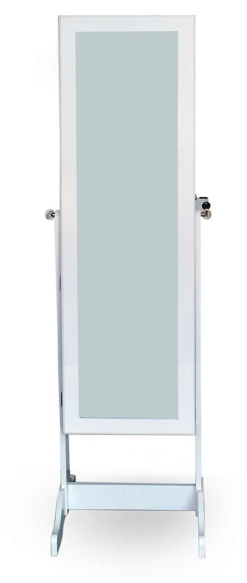 Stojací zrcadlo do předsíně včetně šperkovnice
