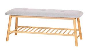 Bambusová lavice do předsíně otevřený botníkem