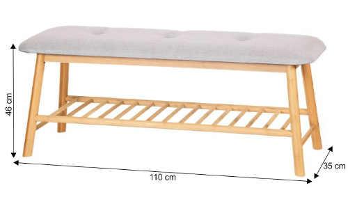 Dřevěná předsíňová lavice šířka 110 cm
