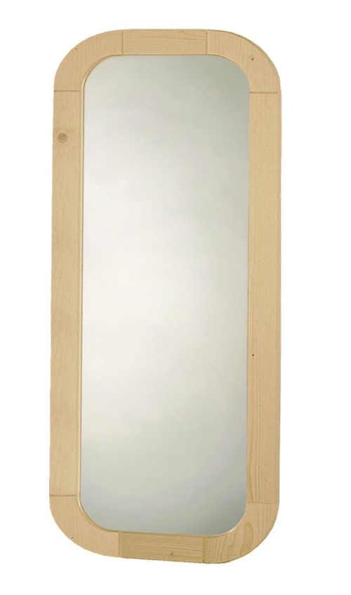 Zrcadlo do předsíně v dřevěném smrkovém rámu
