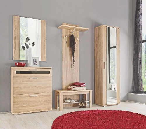 Jednoduchý předsíňový nábytek dub sonoma
