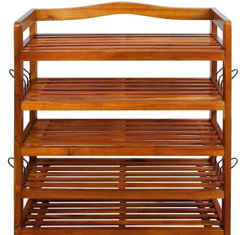 Botník z akáciového dřeva v originálním designu