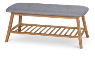 Krásná a praktická lavice z bambusu do předsíně