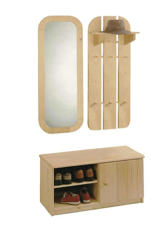 moderní botník z kvalitního dřevěného materiálu