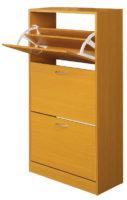 Levný vysoký botník se třemi výklopnými zásuvkami