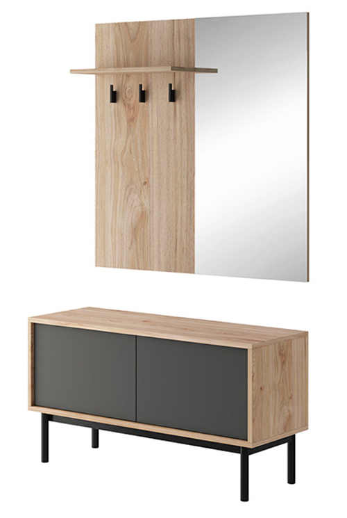 Minimalistická sestava nábytku do předsíně