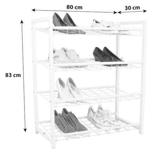 prostorný otevřený regál na obuv