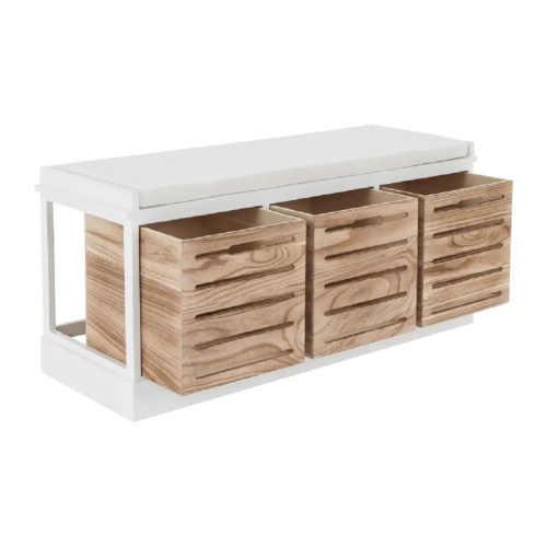 Moderní lavice s vyndavacími šuplíky