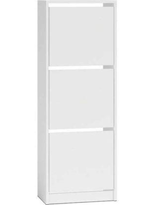 Výklopný vysoký botník v bílém provedení