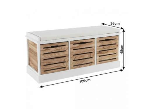 lavice se samostatnými vyndavacími šuplaty