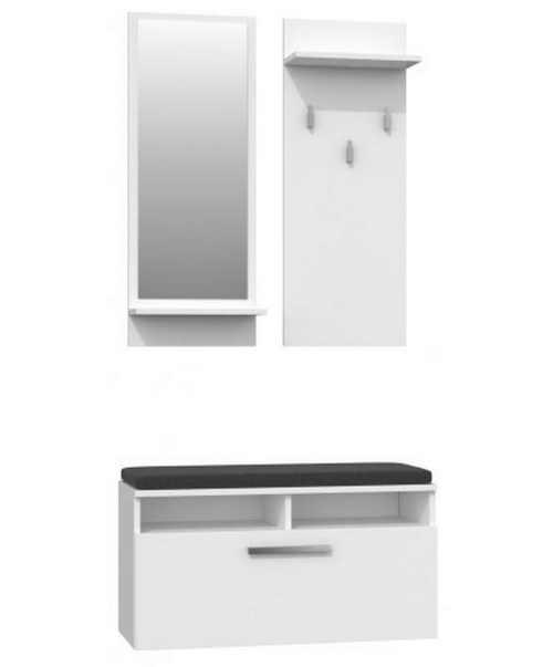 Bílá předsíňová stěna v jednoduchém designu